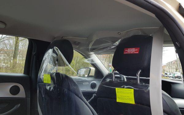 Corona Schutzmöglichkeiten im Taxi